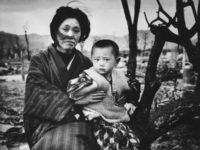 Mother and child in Hiroshima, four months after the atomic bomb dropped.